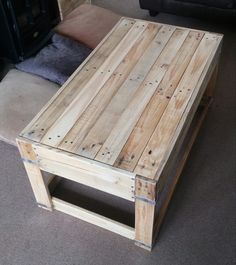 Handmade pallet coffee table by TwiceasNiceArt on Etsy