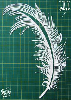 papercutting feather - Google Search