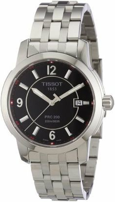 Tissot Men's T0144101105700 PRC 200 Black Dial Watch Tissot. $294.00. Antireflective sapphire crystal. Case diameter: 40 mm. Stainless-steel case. Water-resistant to 660 feet (220 M). Quartz movement. Save 22%!