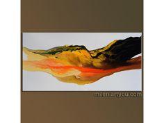 "Metamorphosis II, abstract modern art, liquid fluid paint MODERN ORIGINAL PAINTINGS. beige, light orange brown  Abstract 48"" x 24"" Orange Brown, Light Orange, Modern Art, Original Paintings, Beige, The Originals, Abstract, Summary, Contemporary Art"