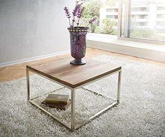 Aus Einer Quadratischen Tischplatte Und Einem Geradlinigen Gestell Setzt Sich Der Wohnzimmertisch Tatius Zusammen Die