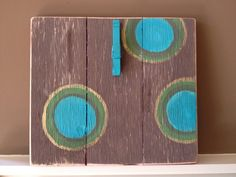 Painted and Distressed Wooden Picture Holder by jAshcrafty on Etsy, $15.00