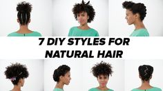 7 DIY Natural Hairstyles [Video] 7 DIY Looks For Natural Hair: When planning this natural hairstyle tutorial, we knew we had to recruit the hair mavens at Mane Addicts to help us find the master in natural styling. Natural Hair Tips, Natural Hair Journey, Natural Hair Styles, Natural Beauty, Diy Hairstyles, Black Hairstyles, Haircuts, Hair Videos, Along The Way
