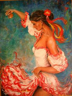 colorful flamenco dancer