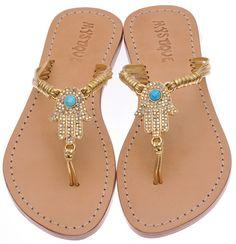 Mystique Hamsa Sandals, love these!