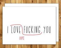 Naughty Anniversary Card. For Boyfriend. For Girlfriend. Dirty