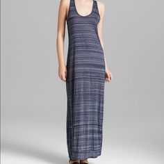 """Vince maxi dress Vince space dye maxi dress in coastal blue. Never worn, original tags. Has a scoop neck and racerback; is sleeveless and semi sheer. About 64"""" in length. Fits true to size. Vince Dresses Maxi"""