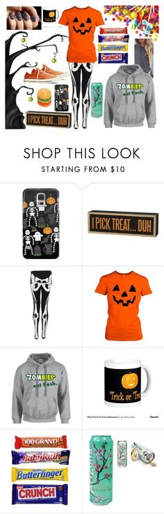 """""""I know it's slightly early, but Happy Halloween everyone!!"""" by kristinberchak ❤ liked on Polyvore featuring beauty, Casetify, Primitives By Kathy and Converse"""