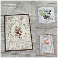 """Stempelkrempel mit Papier So viele Möglichkeiten mit dem Stempelset """"Foxy Friends"""". Die Füchse, Katzen und Rentiere sind einfach süß. DIY, Weihnachten, für Kinder, Grußkarten, Stampin`Up!"""