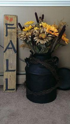 Sunflowers in an old crock | Wreaths & Arrangements ...
