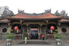 Main Gate of Longshan Temple, Taipei