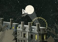 A sense of somnambulance pervades Sydney-based illustrator Nancy Liang's dreamlike urban landscapes and sleepy scenes of suburbia. Delicately hand-drawn and paper-cut, the illustrations are gifs brought to life with nuanced loops of animation. Over The Moon, Stars And Moon, Jacky Winter, Sky Sea, Sketchbook Inspiration, Gifs, Urban Landscape, Stop Motion, Cute Illustration