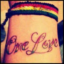 bob marley one love tattoos - Google Search