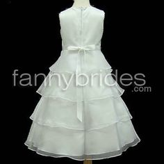 Fashionable A-line Bateau Sleeveless Ankle-length Beaded and Layered Organza Flower Girl Dress - Fannybrides.com