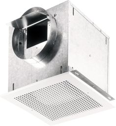 Broan L100MG 121 CFM 0.9 Sone Ceiling or Wall Mounted Ventilator White Fans Exhaust Fan Commercial