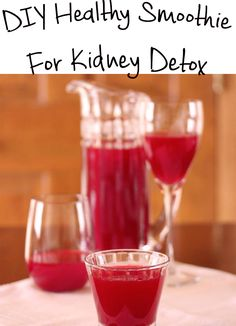 To maintain our kidneys healthy is very important. In order to do this, I provide you a DIY Healthy Smoothie For Kidney Detox!