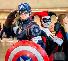 Harley Quinn Cosplay, Captain America, Superhero, Facebook, Fictional Characters, Instagram, Fantasy Characters