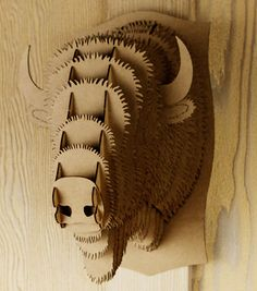 Cardboard Bison Trophy by Cardboard Safari