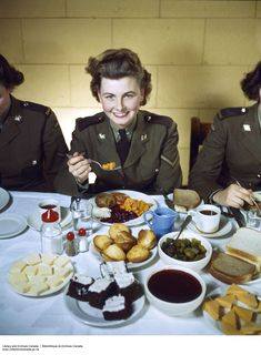 CWAC Eating in the Mess Hall. (item 1)