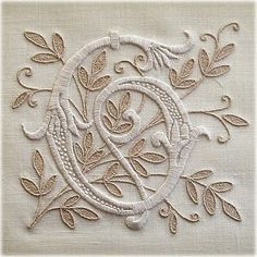 Monogram - G - love the subtle natural color for the background!