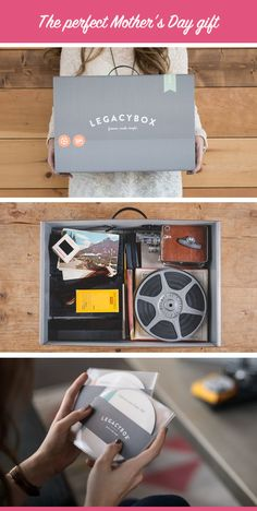 Give mom the gift of memories. She'll love to fill Legacybox with film, photos, and videotapes from the past.