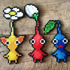 Pikmin perler beads by morbesety