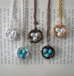 Bird Nest Necklace Customer Appreciation Sale by julianascreations, $14.00