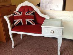 British Vintage Chic Telephone Table