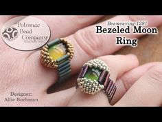 Bezeled Mood Ring from Potomac Bead Company teaches you how to bezel (wrap) a mood cabochon with seed beads. Mood cabs change colors as you wear them! All supplies from https://www.PotomacBeads.com & PotomacBeads.eu