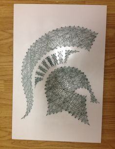 Michigan state diy string art project crafts to do pinterest michigan state thread multimedia art freerunsca Images