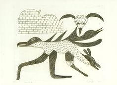 Kenojuak Ashevak (1927-2013) Birds 1967