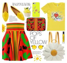 """Get Happy: Pops of Yellow (8)"" by samra-bv ❤ liked on Polyvore featuring Le Monde Beryl, Charlotte Olympia, D.S. & DURGA and Krewe"