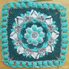 The Cascadin Dahlia Mandala is yet another wonderful 12 inch square that is added to the Mandala blanket CAL! Get the FREE crochet pattern HERE!