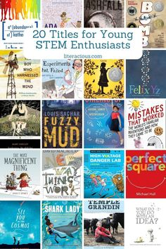 20 Titles for Young STEM Enthusiasts Good Books, Books To Read, Louis Sachar, Feminist Books, Summer Reading Lists, Fiction And Nonfiction, Chapter Books, Book Themes, Children's Literature