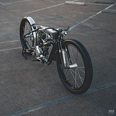 """bike-exif: """"It's a KTM. It looks like it's straight out of the 1930s, and it's got a supercharger. Is @maxwellhazan insane, or a creative genius? . Get the exclusive build story and more amazing..."""