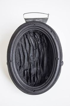 """Jorge Manilla - This was not organically"""": Abruptions #8 Brooch Leather, steel, zinc, charcoal"""