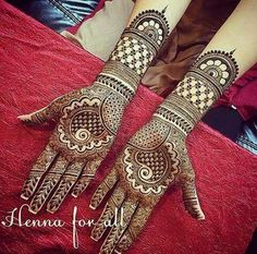Latest Bridal Mehndi Designs for Full Hands - Craft Community Wedding Henna Designs, Latest Bridal Mehndi Designs, Mehndi Designs Book, Simple Arabic Mehndi Designs, Indian Mehndi Designs, Mehndi Designs 2018, Modern Mehndi Designs, Mehndi Design Pictures, Mehndi Patterns