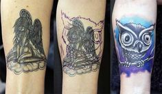 How tattoo cover up works Cover Up Tattoos, Black Tattoo Cover Up, Black Tattoos, Cool Tattoos, Amazing Tattoos, Tattoo Removal Process, Body Art, Dots, Tattoo Ideas