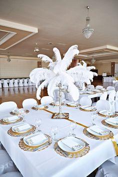 Ostrich feather decorations, dekoracje strusimi piórami