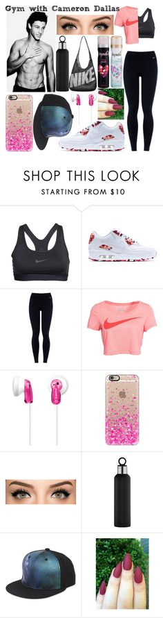 """Gym with Cameron Dallas <3"" by grierdallas ❤ liked on Polyvore featuring NIKE, Sony, Casetify, blomus and 5cm"
