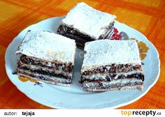 Vánoční buchta ořechová recept - TopRecepty.cz Christmas Baking, Tiramisu, Cheesecake, Food And Drink, Treats, Ethnic Recipes, Sweet, Basket, Sweet Like Candy