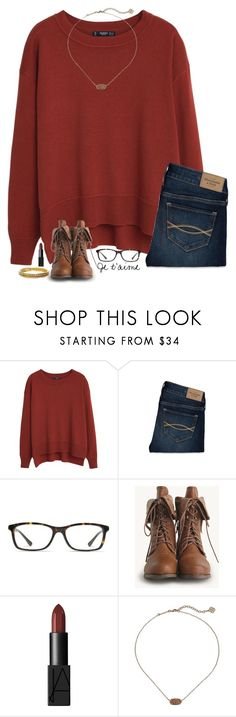 """casual winter outfit"" by sassy-and-southern ❤ liked on Polyvore featuring MANGO, Abercrombie & Fitch, GlassesUSA, NARS Cosmetics, Kendra Scott, Chanel, women's clothing, women's fashion, women and female"