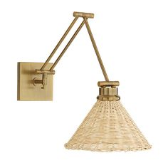 Need new lighting design? See the Felix Articulating Wall Sconce wih Glass Shade at Ballard Designs online and love the bright new rooms in your life! Brass Bathroom Sconce, Brass Sconce, Wall Sconce Lighting, Wall Sconces, Wall Lamps, Brass Wall Lights, Wall Sconce Bedroom, Rattan Light Fixture, Light Fixtures