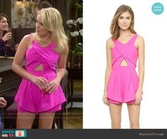 Gabi's pink romper on Young and Hungry.  Outfit Details: https://wornontv.net/51991/ #YoungandHungry