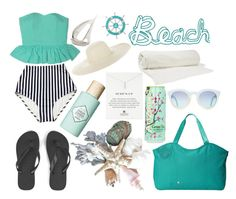 """""""Beach"""" by ltmorris on Polyvore featuring Havaianas, Haiku, Benefit, Balenciaga, Dogeared and Jennifer Ouellette"""