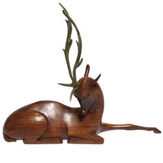 Art Deco Deer Sculpture by Karl Hagenauer   From a unique collection of antique and modern animal sculptures at https://www.1stdibs.com/furniture/more-furniture-collectibles/animal-sculptures/