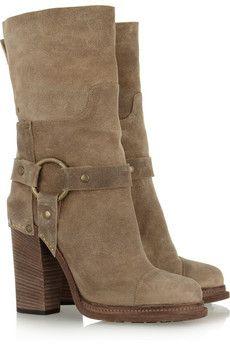 47cbefa5fbcb Dolce   Gabbana - Washed-leather boots. Stilvolle StiefelNeue Schuhe Designer-stiefelSchuhschrankSchuhkollektionLederstiefelStiefel