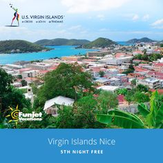 View of Charlotte Amalie, on the island of St. Thomas, in the US Virgin Islands. Picture was probably taken from the Galleon House.