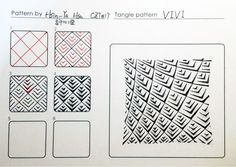 Vivi Zentangle pattern