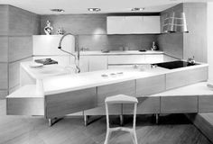 Kitchen Design, Kitchen Layouts White Roof Sapce As Wooden Inspiring Lamp White Room Cubello Kitchen By Amr Helmy: Kitchen Layout Inspired f...
